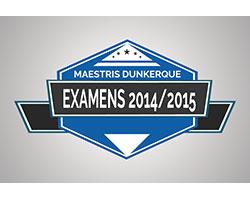 Taux de réussite des examens 2014/2015 à Maestris Dunkerque