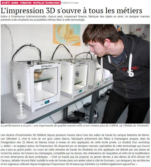 Design Graphique Reims Article l'Hebdo du vendredi 5 mars 2019